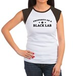 Property of a Black Lab Women's Cap Sleeve T-Shirt
