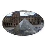 Renoir The Louvre & Nature Oval Sticker