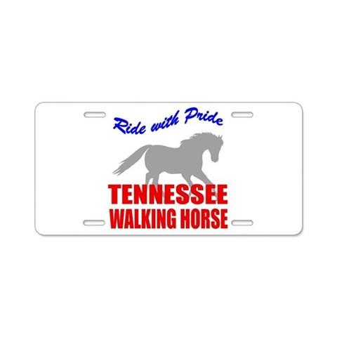 Tennessee Walking Horse Pride Aluminum License Plates