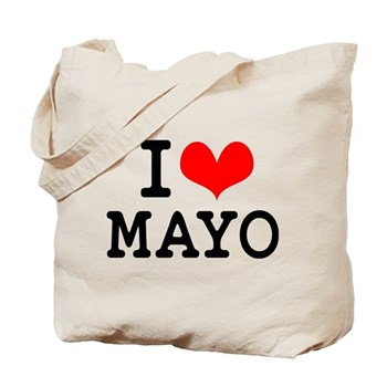 I Love MAYO Tote Bag