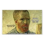 Vincent Van Gogh Quote Rectangle Sticker