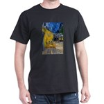 Vincent Van Gogh Color Art Black T-Shirt