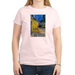 Vincent Van Gogh Color Art Women's Pink T-Shirt