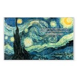 Starry Night Vincent Van Gogh Sticker (Rectangular
