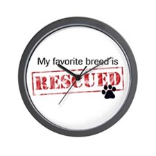 My Favorite Breed Is Rescued/Adopted wall clock