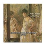 Aesop Quote Psyche Painting Tile Coaster