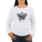 Diabetes Tribal Butterfly Women's Long Sleeve T-Sh
