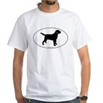 Black Lab Outline White T-Shirt