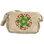 Celtic Christmas Star Messenger Bag