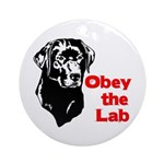 Obey the Lab Ornament (Round)