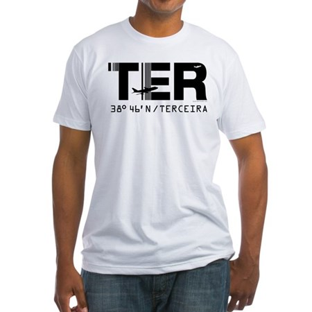 Terceira Azores Portugal airport Fitted T-Shirt