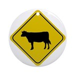 Cow Crossing Sign Ornaments