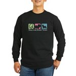 Peace, Love, Norwich Terriers Long Sleeve Dark T-S