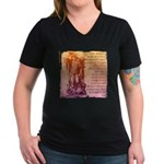 St. Michael Prayer in Latin Women's V-Neck Dark T-