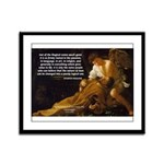 Religious Art & Beauty Framed Panel Print