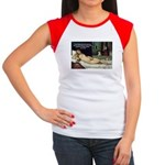 Freud Erotic Quote and Titian Women's Cap Sleeve T-S