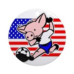 International Soccer Pig Ornaments