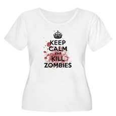 Keep Calm and Kill Zombies Womens Plus Size Scoop