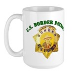 Border Patrol Badge Large Mug