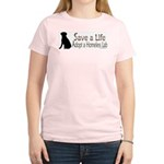 Adopt Homeless Lab Women's Pink T-Shirt