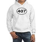 407 Orlando Area Code Oval Hooded Sweatshirt