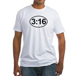 John 3:16 Christian Bible Verse Fitted T-Shirt