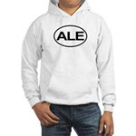 ALE Beer Lager Brew European Oval Hooded Sweatshir