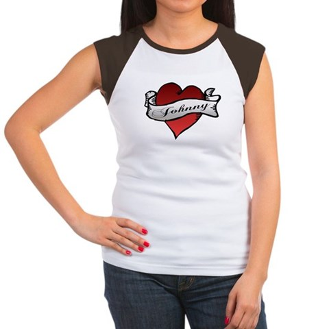 CafePress > T-shirts > Johnny Tattoo Heart Tee. Johnny Tattoo Heart Tee