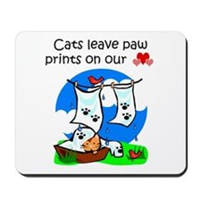 Cats Leave Paw Prints Mousepad