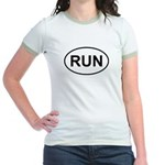 Run Runner Running Track Oval Jr. Ringer T-Shirt