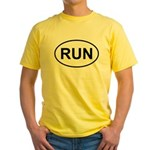 Run Runner Running Track Oval Yellow T-Shirt