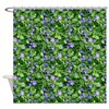 Periwinkle Blooms Shower Curtain