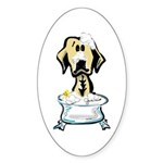 Rub-a-Dub Labrador Oval Sticker