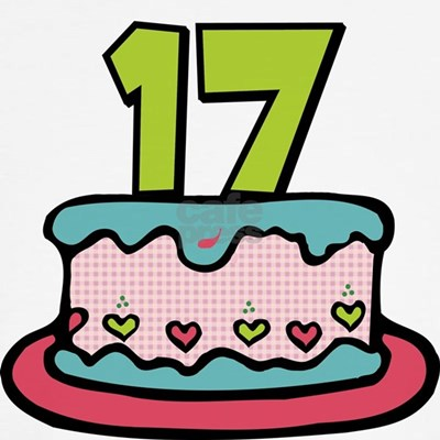 Surprising your birthday friends with our cute cartoon 17 birthday cake