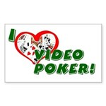 Video Poker Rectangle Sticker