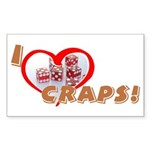 Craps Rectangle Sticker