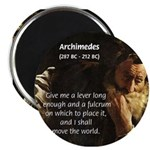 Greek Mathematician: Archimedes Magnet