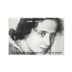 Philosopher: Hannah Arendt Rectangle Magnet (10 pa