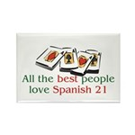 Spanish 21 Rectangle Magnet (10 pack)