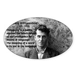 Ludwig Wittgenstein Oval Sticker