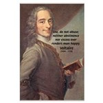 French Philosopher: Voltaire Large Poster