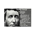 Philosophy / Nature: Thoreau Rectangle Magnet (100