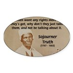 Feminist Sojourner Truth Oval Sticker