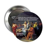 "Socrates: Knowledge Books Wisdom 2.25"" Button (10"