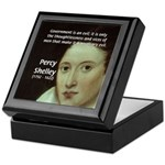 Romantic Writer: Percy Shelley Keepsake Box