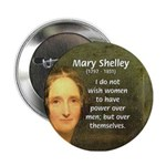 Novelist Mary Shelley Button