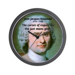 French Philosopher Rousseau Wall Clock