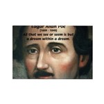 Writer Edgar Allan Poe Rectangle Magnet (10 pack)