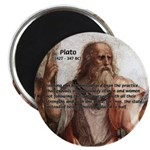 """Plato: Philosophy / Equality 2.25"""" Magnet (100 pac"""