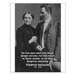 Man and Woman: Nietzsche Small Poster